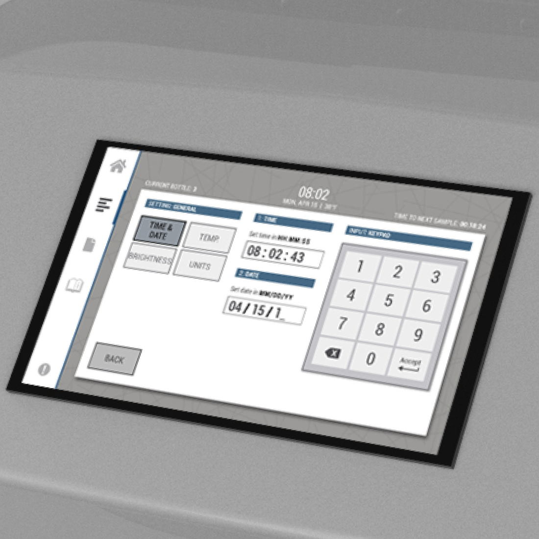 Control Panel-Wastewater sampling machine-The WAVE
