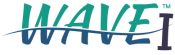 Green and Blue letters of logo of the Wave-wastewater sampling machine by Emerald Coast Manufacturing